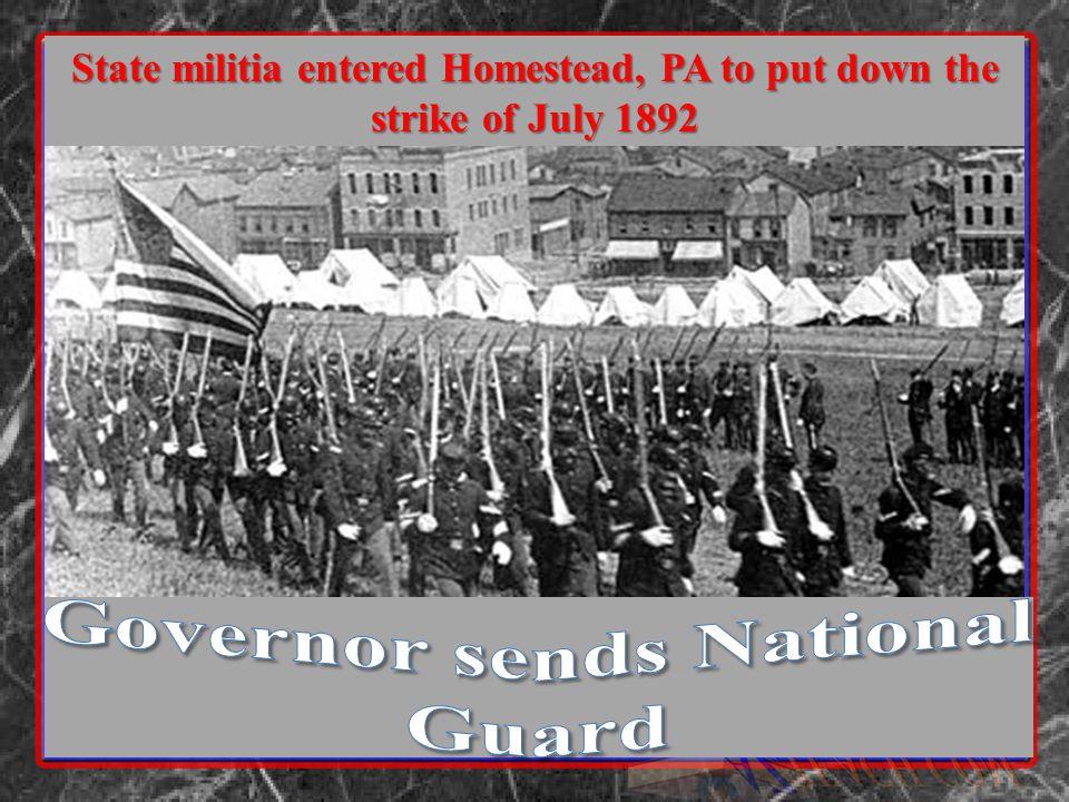 Governor sends National Guard