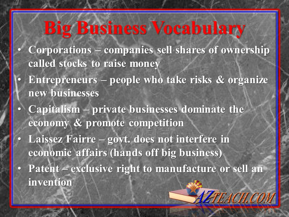 Big Business Vocabulary
