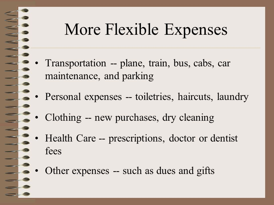 More Flexible Expenses