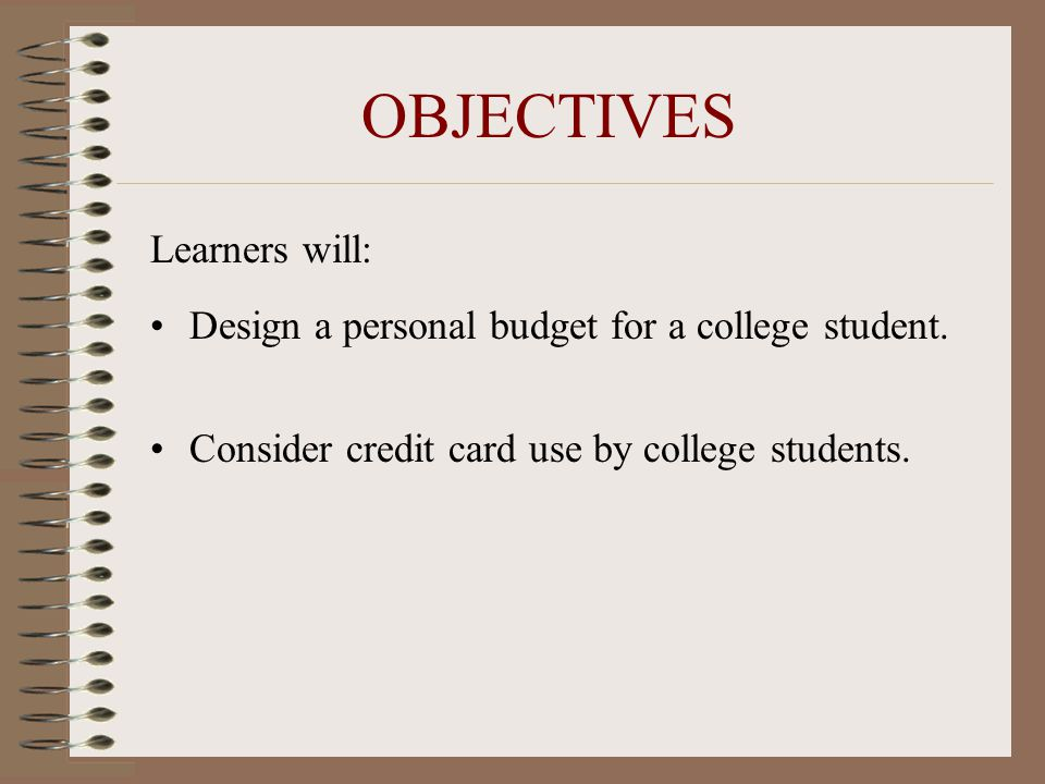 College Student Budget Mini-Lesson - Ppt Download