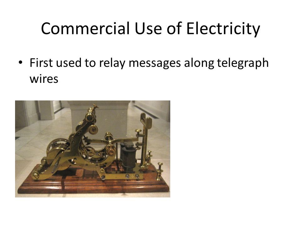 Commercial Use of Electricity