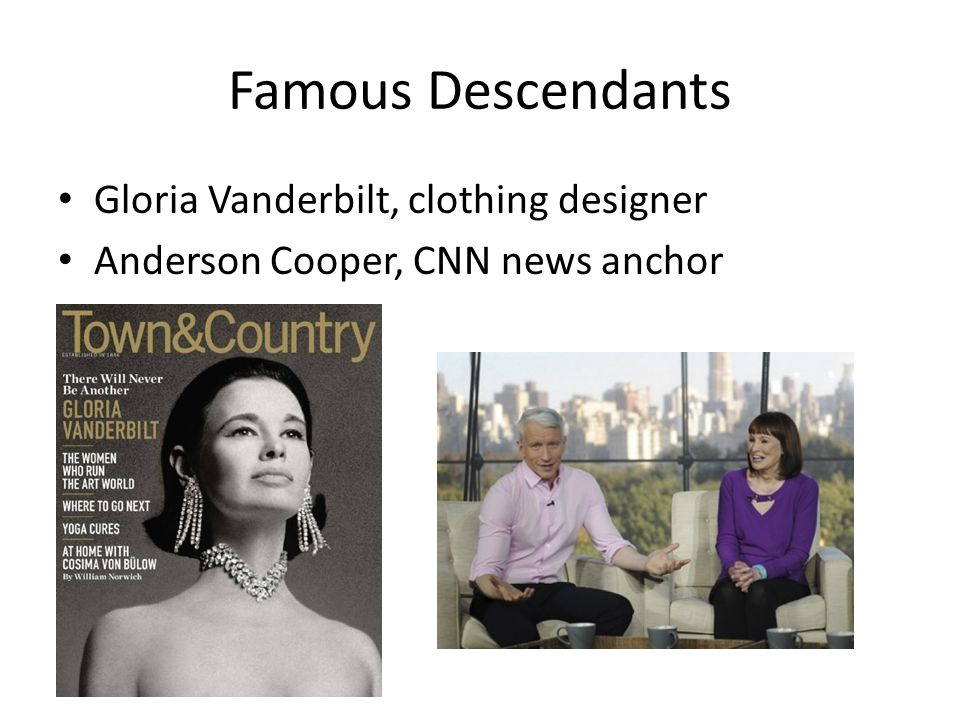 Famous Descendants Gloria Vanderbilt, clothing designer