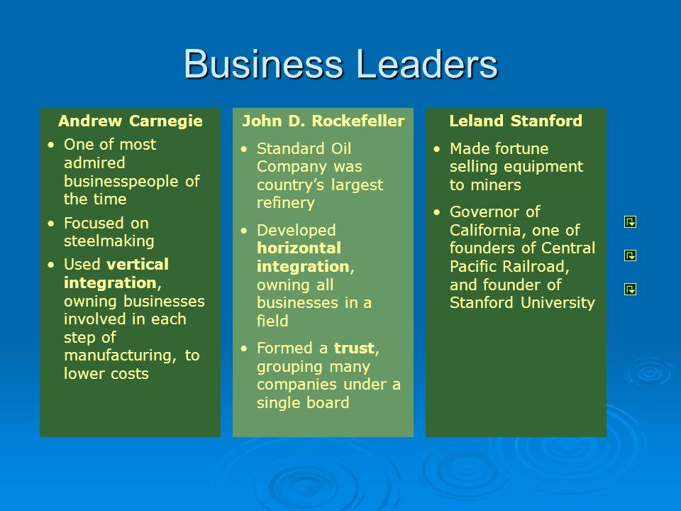 Business Leaders Andrew Carnegie