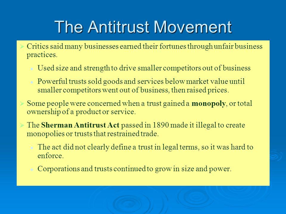 The Antitrust Movement