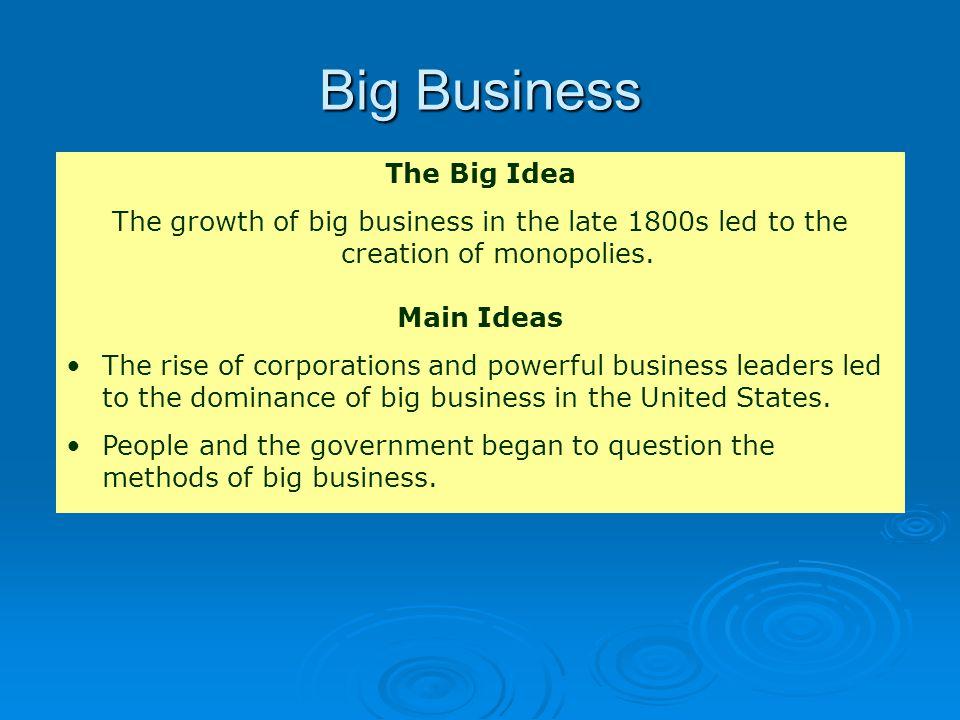 Big Business The Big Idea