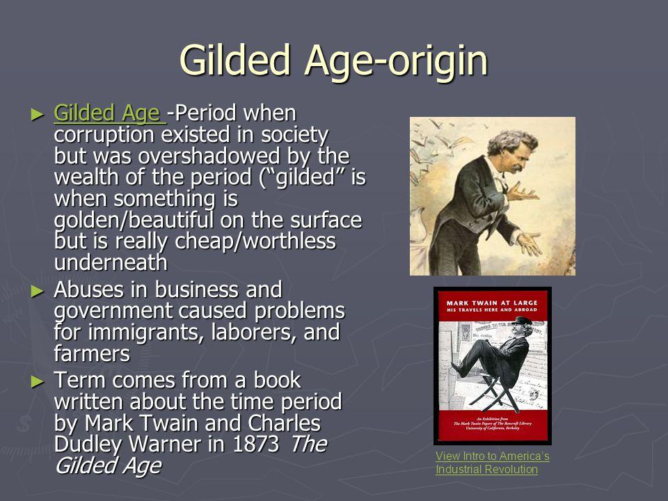 Gilded Age-origin