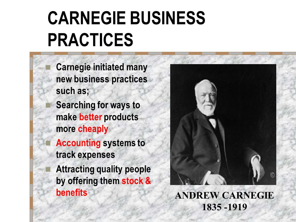 CARNEGIE BUSINESS PRACTICES