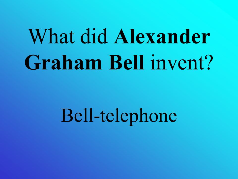 What did Alexander Graham Bell invent