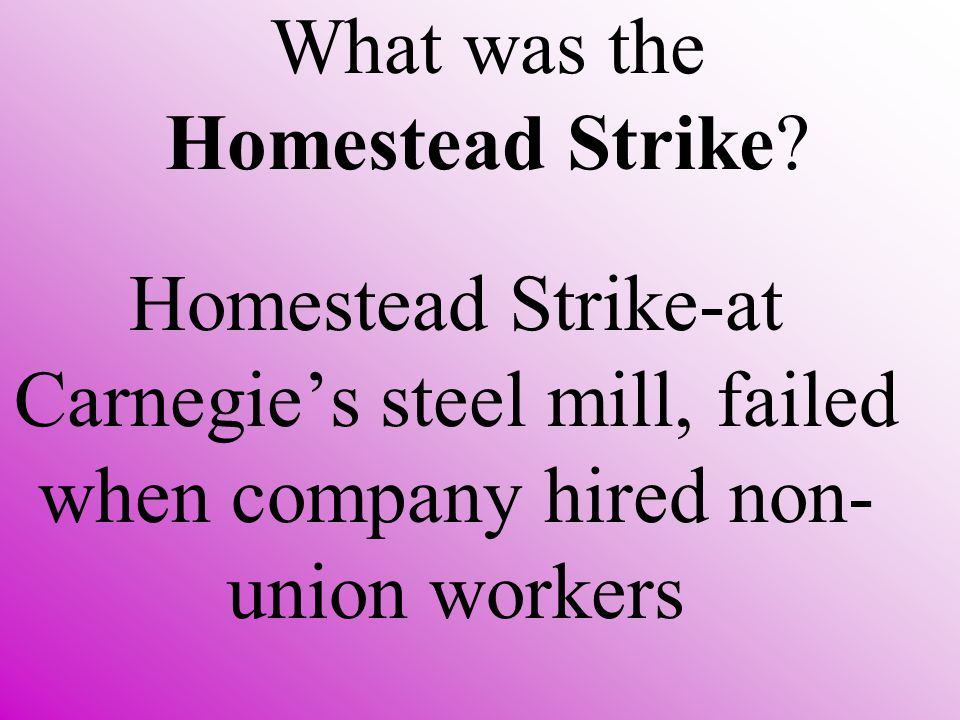 What was the Homestead Strike