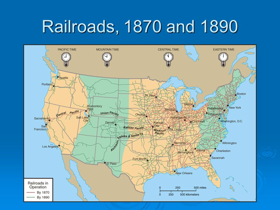 Railroads, 1870 and 1890