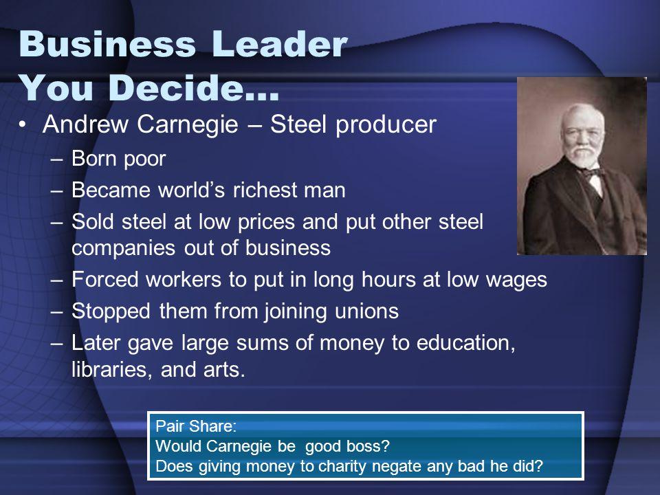 Business Leader You Decide…