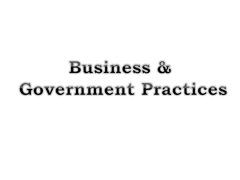 Business & Government Practices