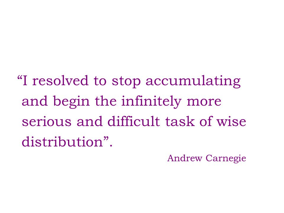 I resolved to stop accumulating and begin the infinitely more