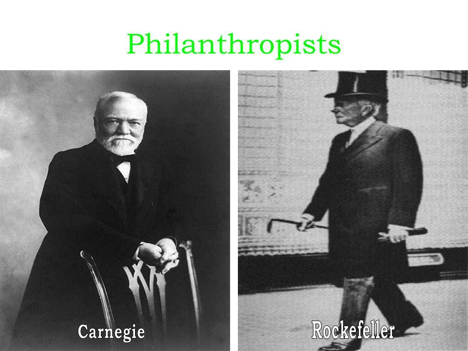 Philanthropists Rockefeller Carnegie