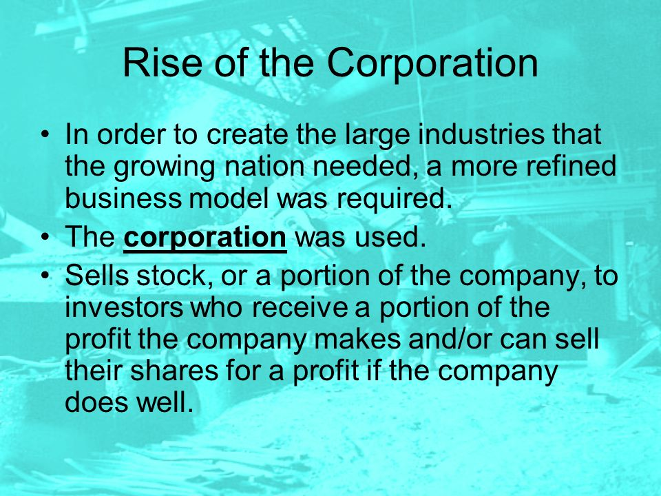 Rise of the Corporation