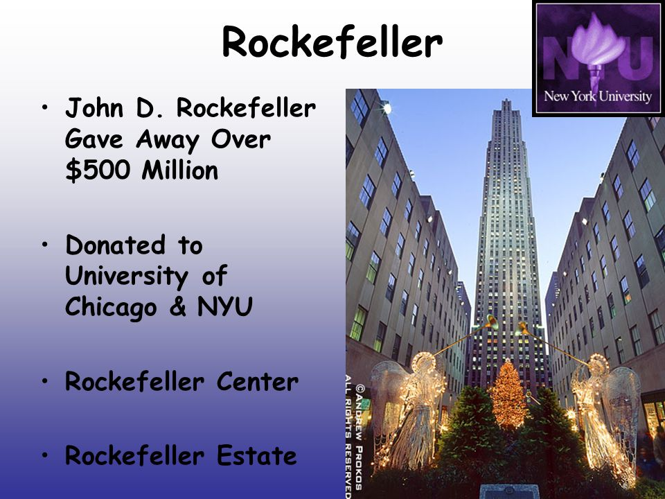 Rockefeller John D. Rockefeller Gave Away Over $500 Million