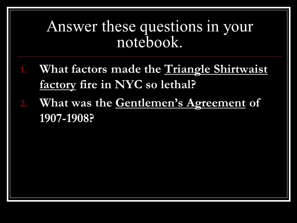 Answer these questions in your notebook.