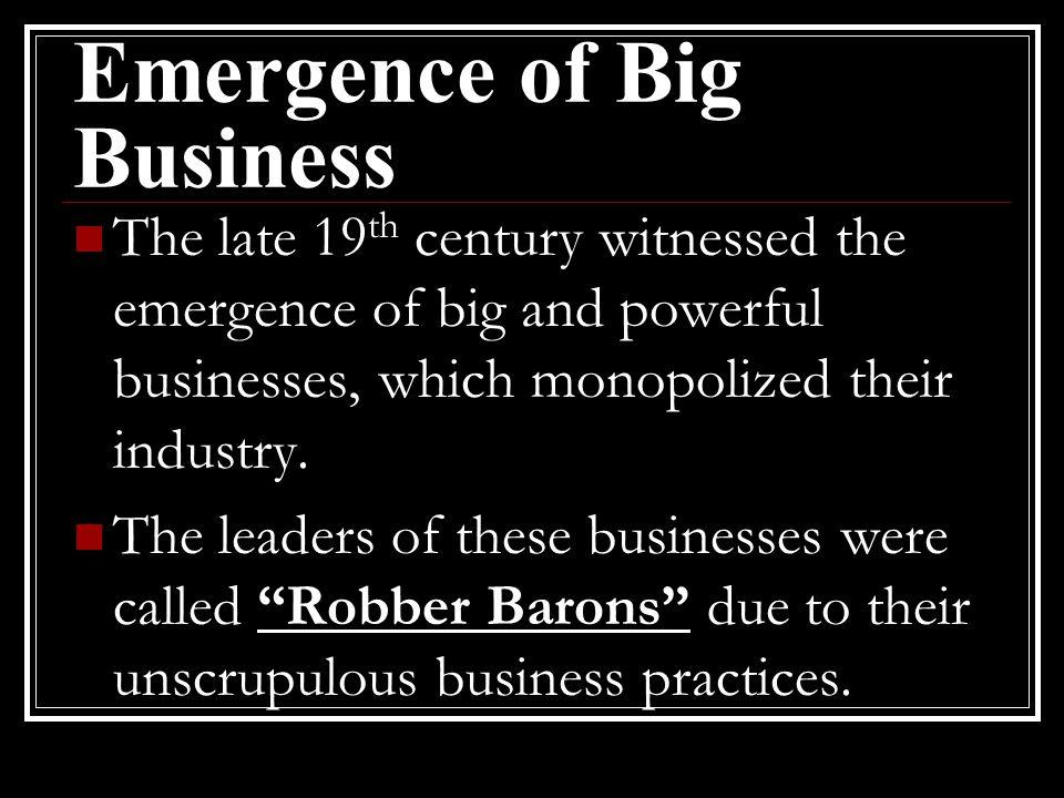 Emergence of Big Business