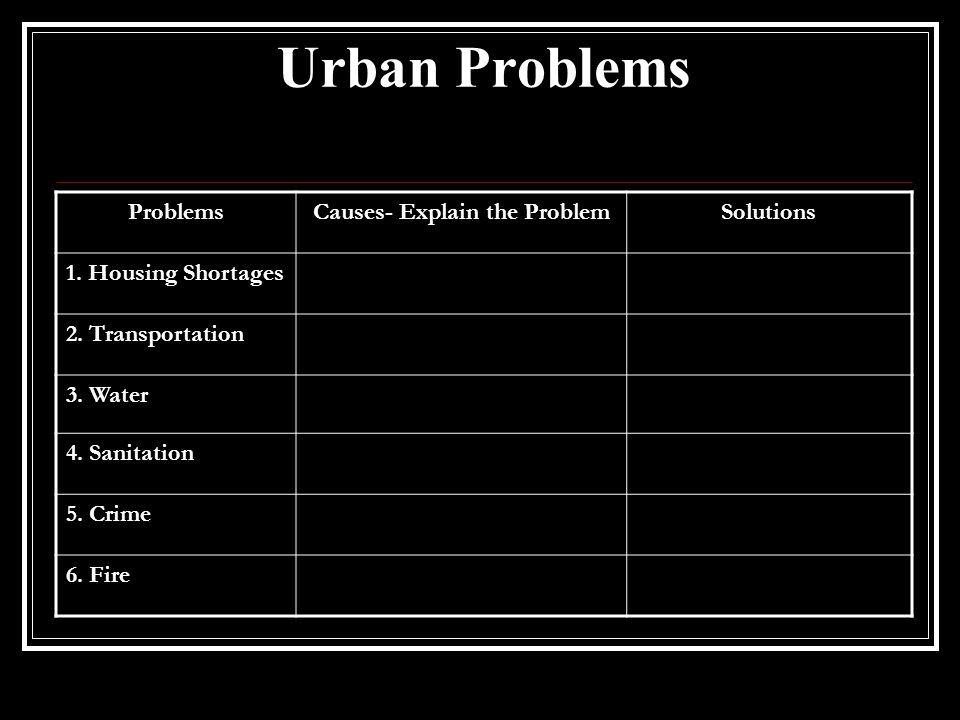 Causes- Explain the Problem