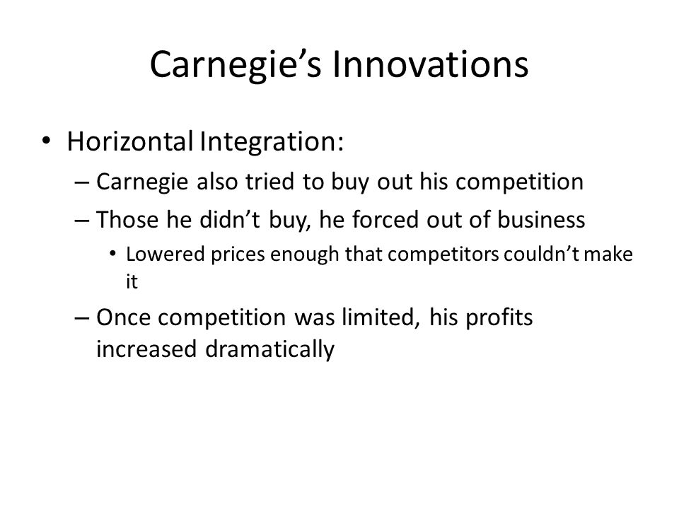Carnegie's Innovations