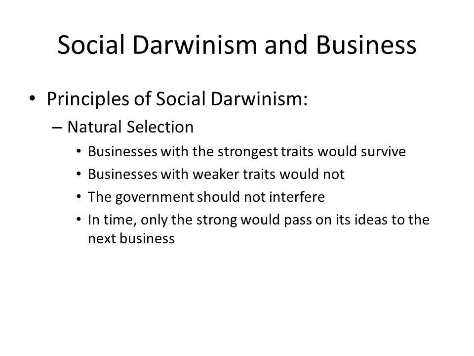 Social Darwinism and Business