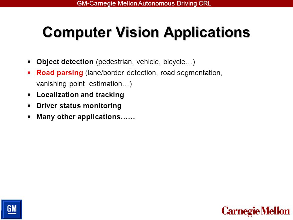 Computer Vision Applications