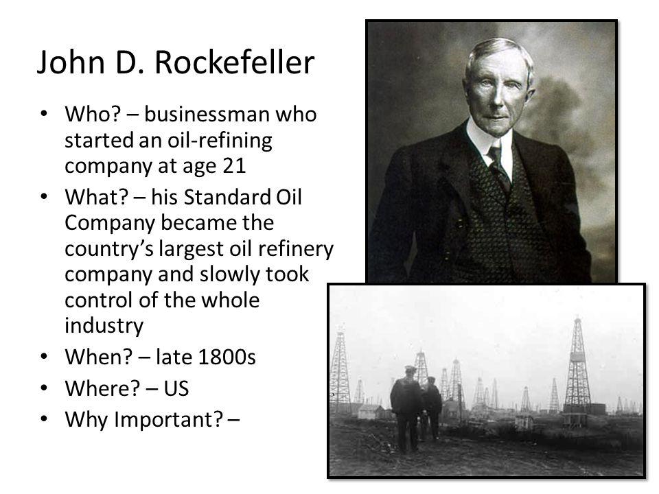 john d rockefeller and standard oil essay