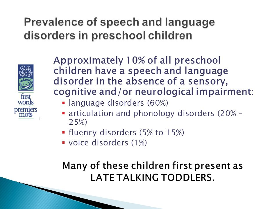 prevalence of speech language and communication difficulties in a relationship