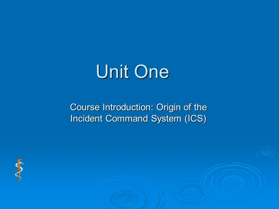 an introduction to the incident command system ics Incident command system introduction and overview definitions incident an occurrence that requires action by emergency service personnel incident command system (ics) a standardized.
