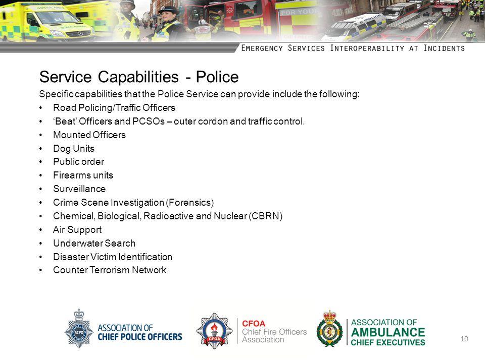 Service Capabilities - Police