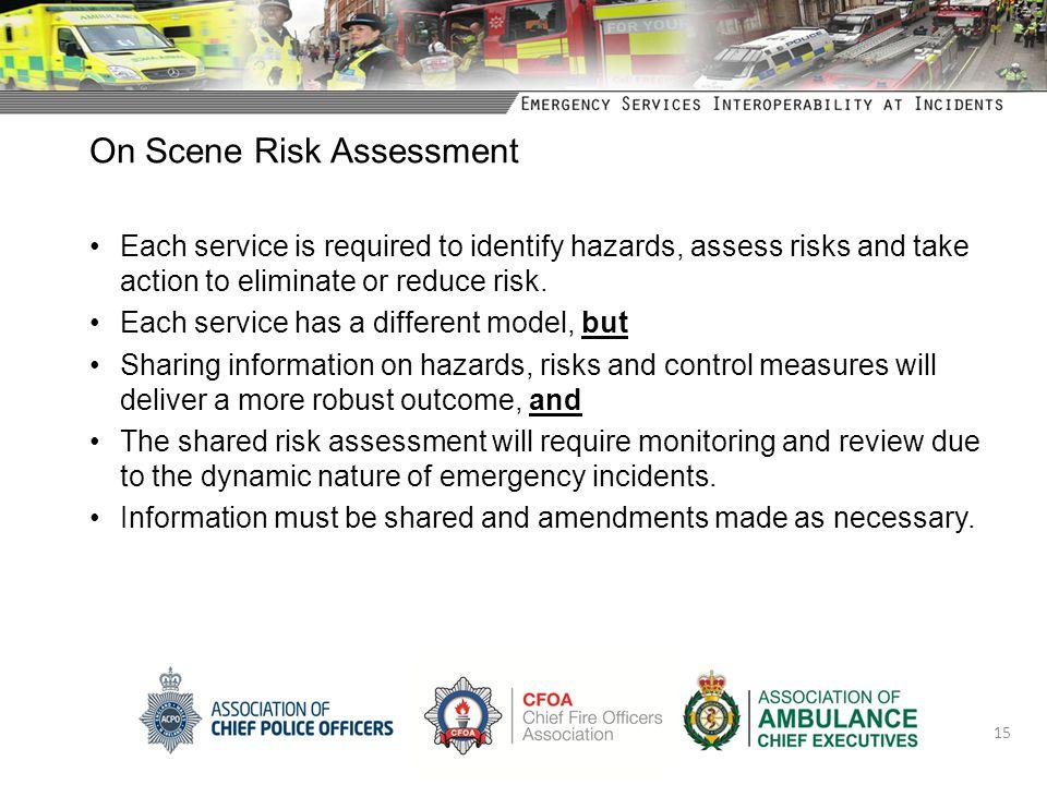On Scene Risk Assessment