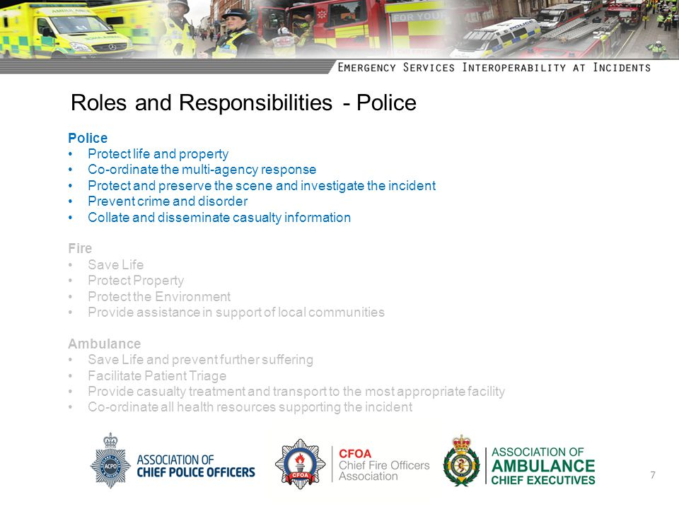 Roles and Responsibilities - Police