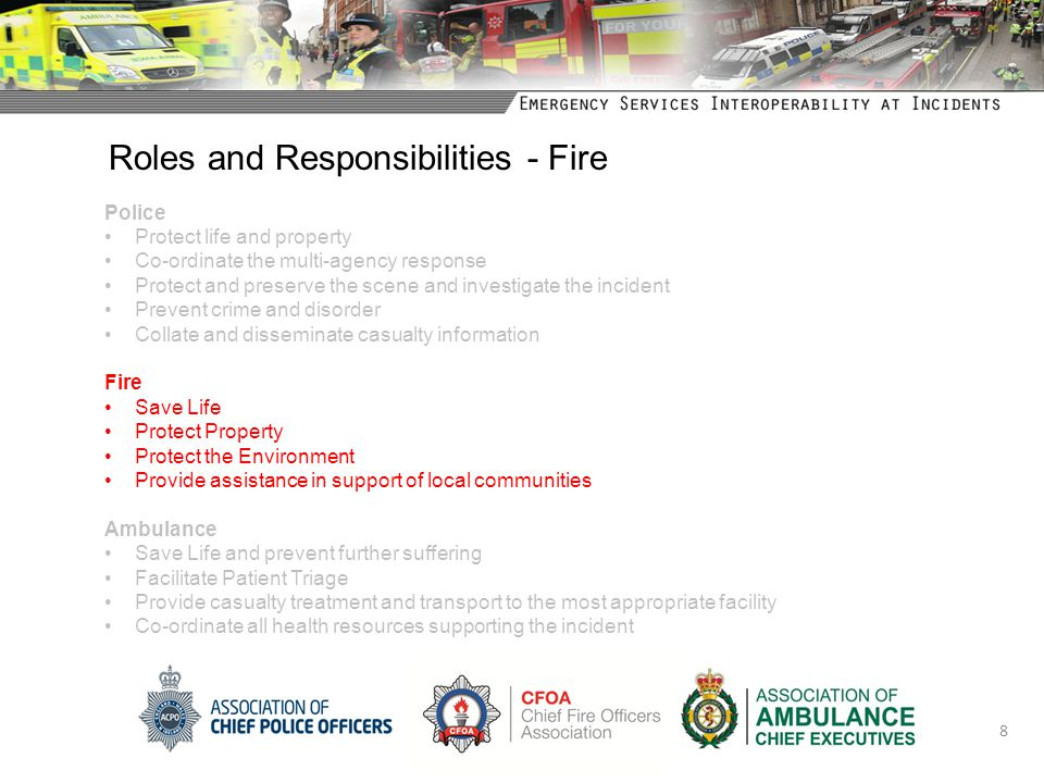 Roles and Responsibilities - Fire