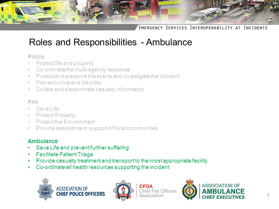 Roles and Responsibilities - Ambulance