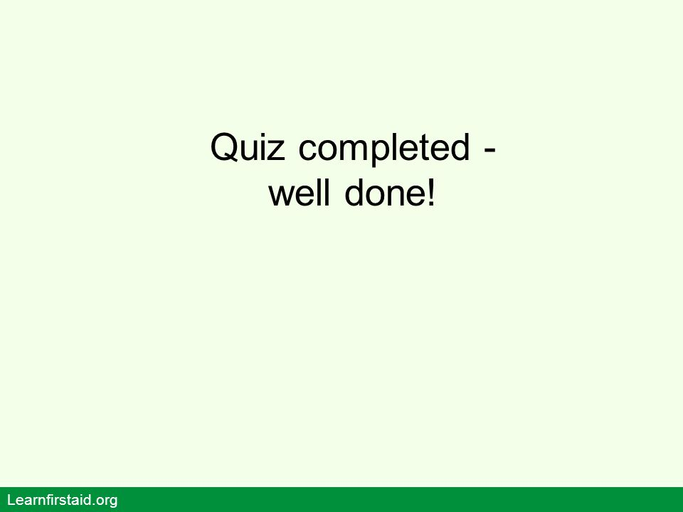 Quiz completed - well done!