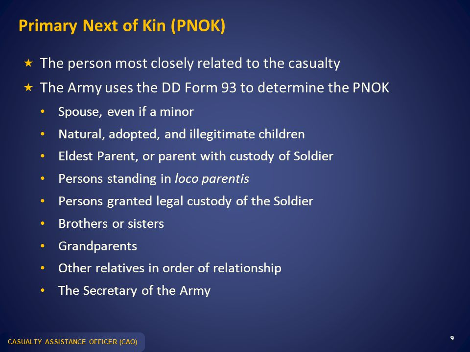 Taking Care of Families: Casualty Notification & Assistance - ppt ...