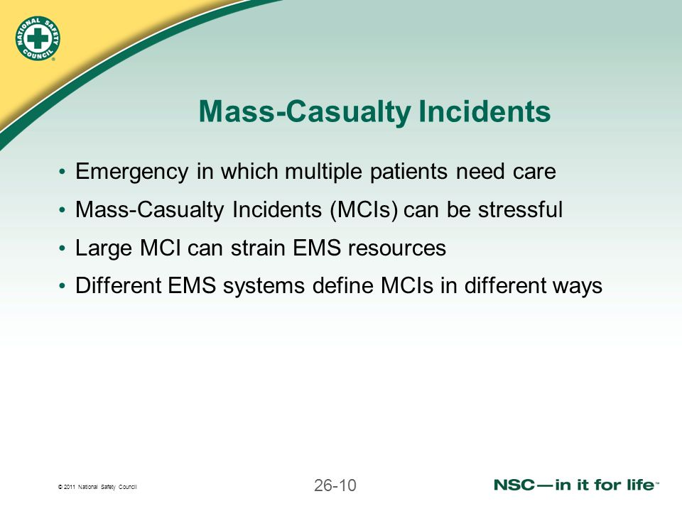 Mass-Casualty Incidents