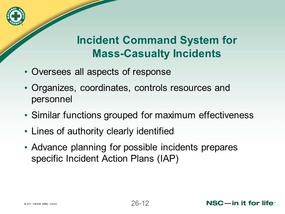 Incident Command System for Mass-Casualty Incidents