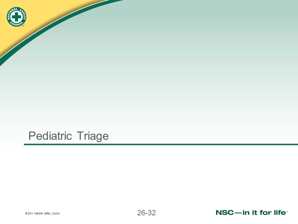 Pediatric Triage