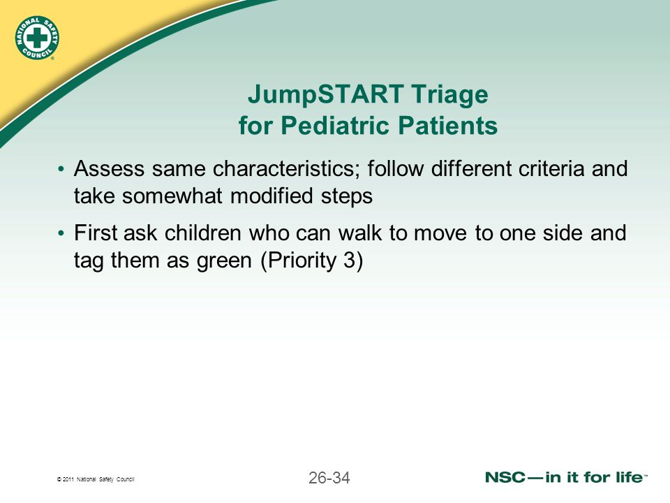 JumpSTART Triage for Pediatric Patients