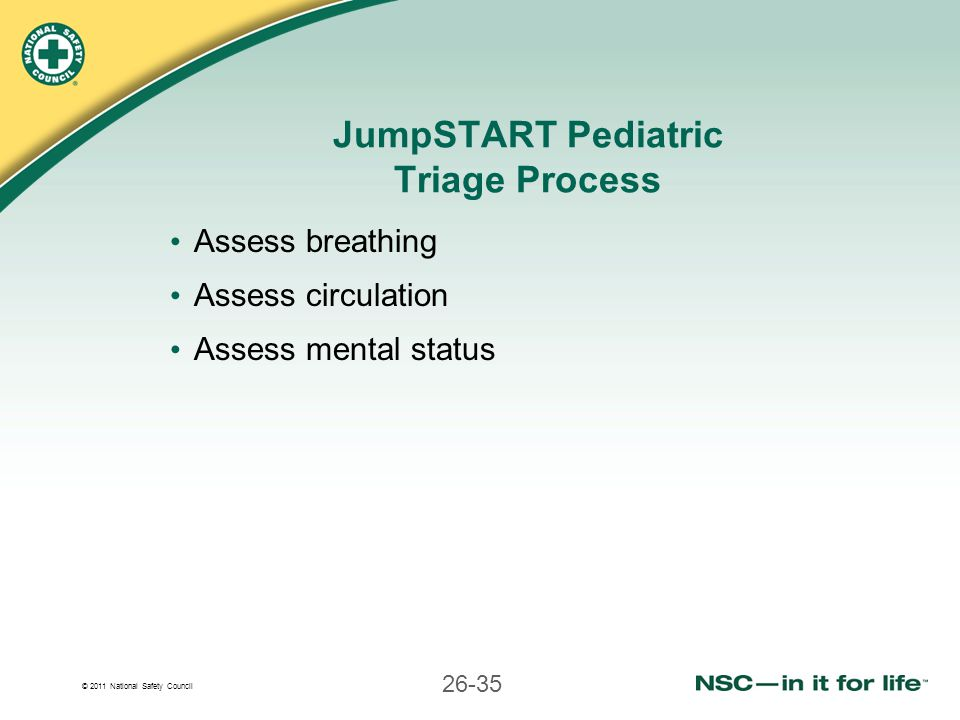JumpSTART Pediatric Triage Process