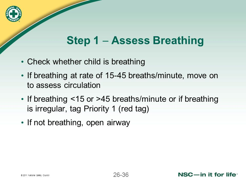 Step 1  Assess Breathing