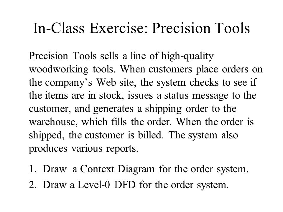 in class exercise precision tools - Dfd Tools