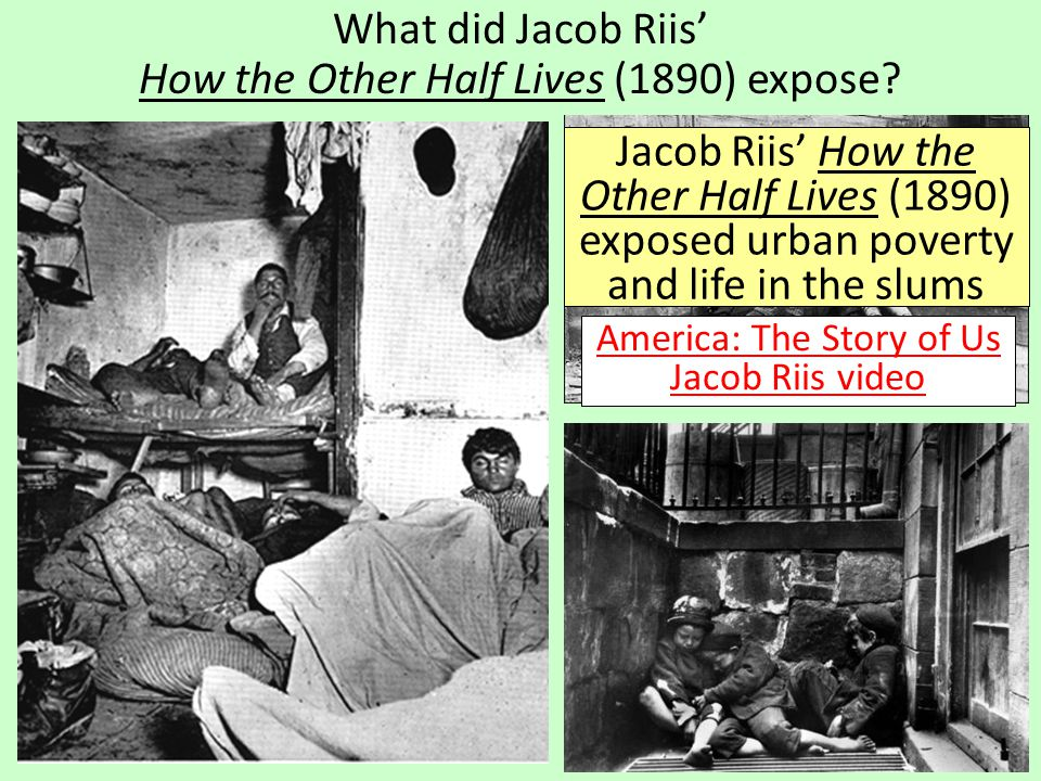 What did Jacob Riis' How the Other Half Lives (1890) expose