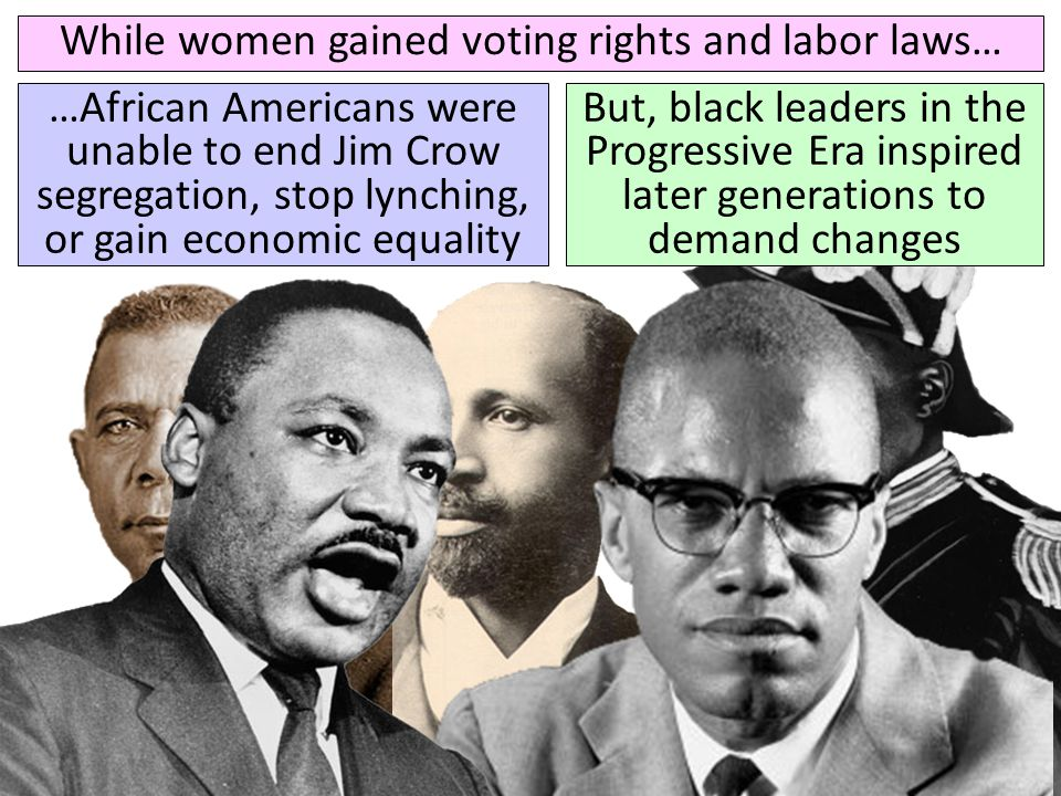 While women gained voting rights and labor laws…