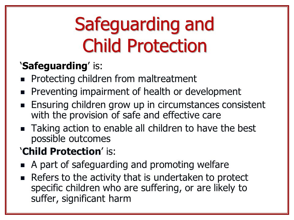 safeguarding and protection in health and