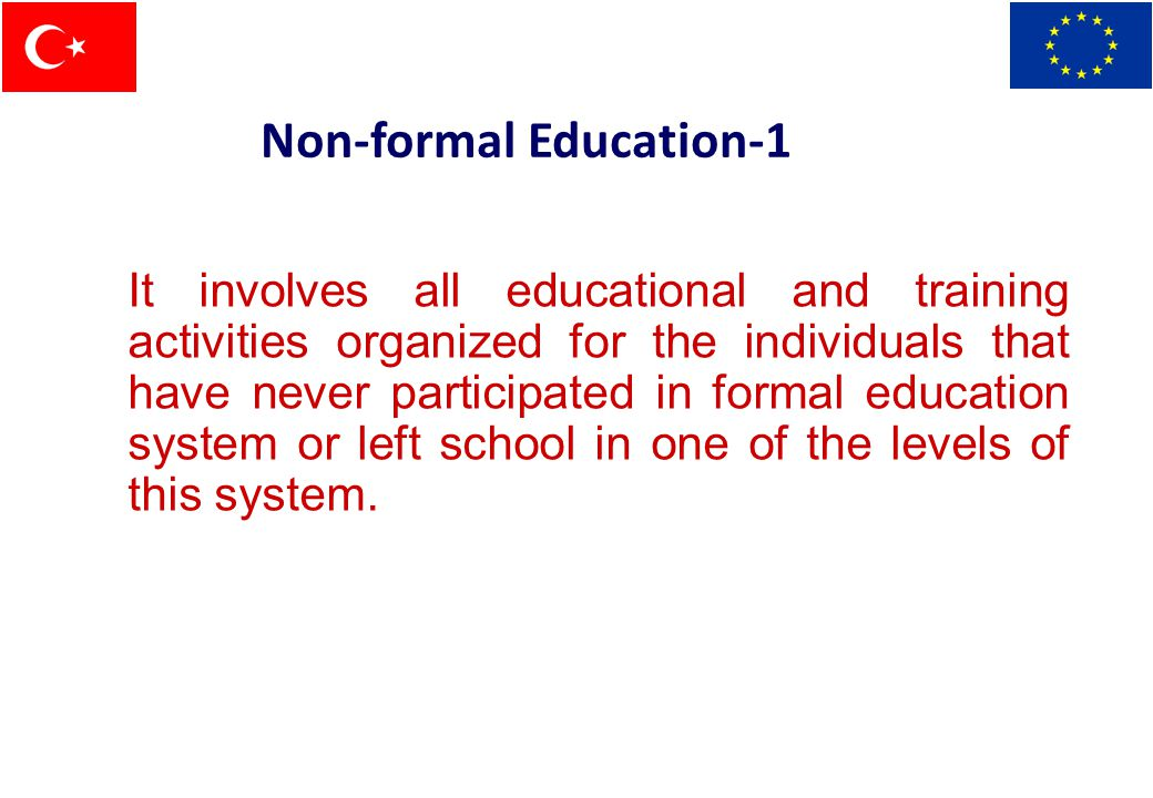 Non-formal education: Roles of government and NGOs