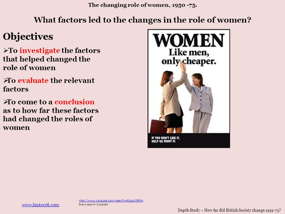 changes in the roles of women essay Keywords: women world war two, role of women world war the changes that women underwent in the late 1930's and early 1940's would be felt by generations to come.
