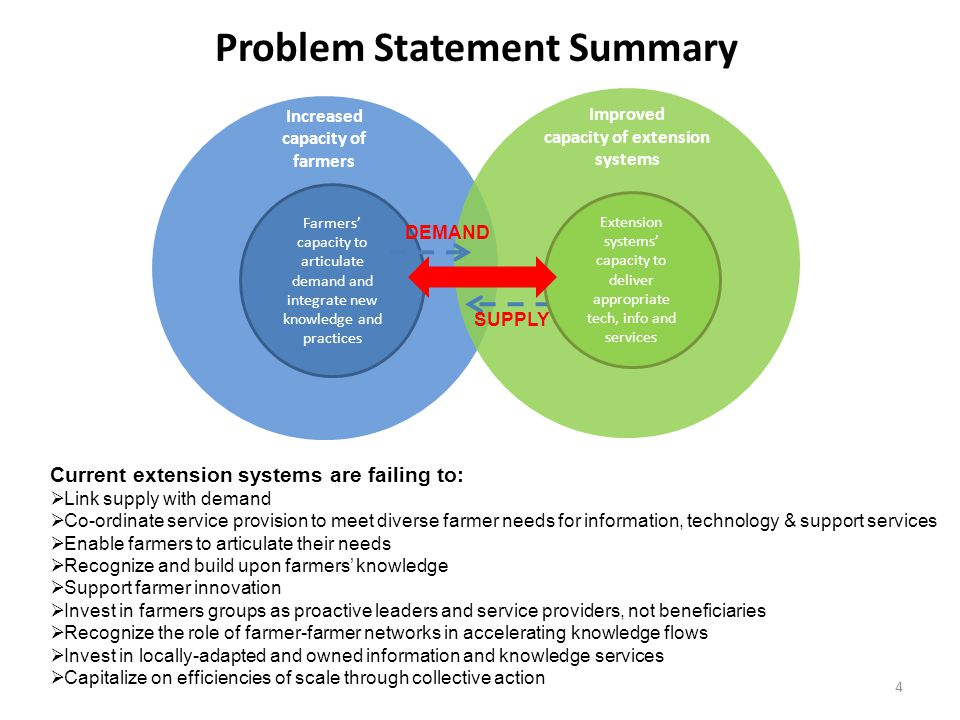 information systems problem statement A problem statement is a concise description of an issue to be addressed or a condition to be improved upon it identifies the gap between the current (problem) state.
