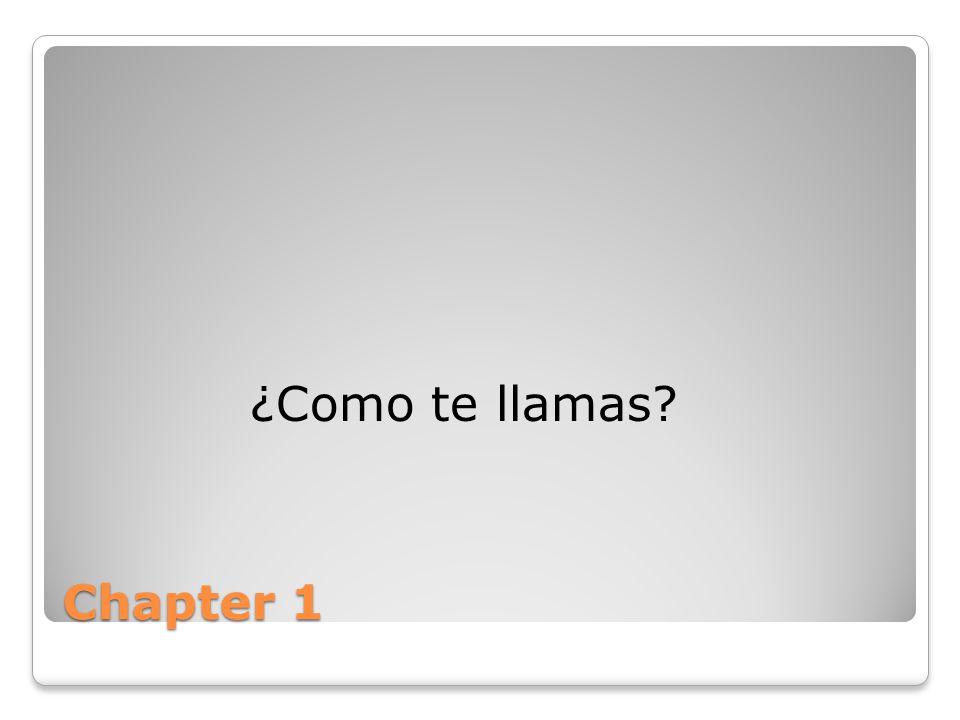 ¿Como te llamas Chapter 1